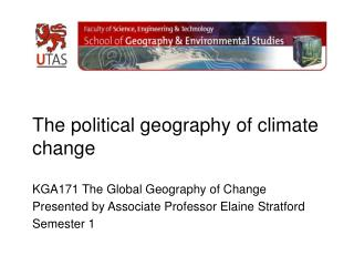 The political geography of climate change