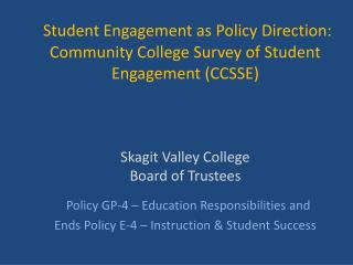Why Student Engagement?