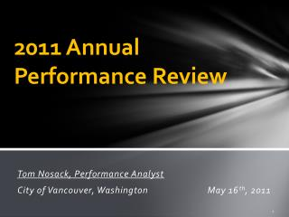 2011 Annual Performance Review