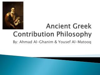 Ancient Greek Contribution Philosophy