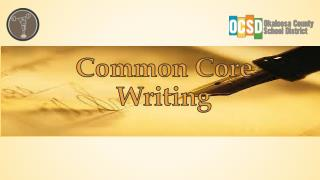 Common  Core  Writing