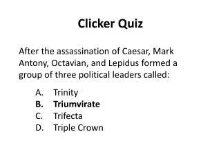 Clicker Quiz