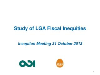 Study of LGA  Fiscal  Inequities