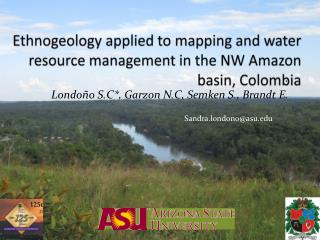 Ethnogeology  applied to mapping and water resource management in the NW Amazon basin, Colombia