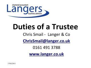 Duties of a Trustee