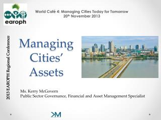 Managing Cities' Assets
