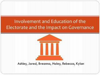 Involvement and Education of the Electorate and the Impact on Governance