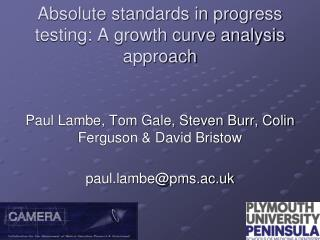 Absolute standards in progress testing: A growth curve analysis approach
