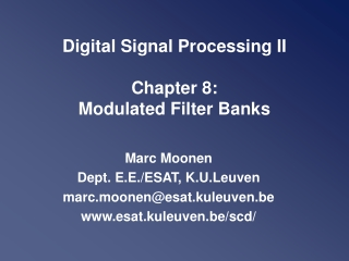 DIGITAL MODULATIONS Chapter 8