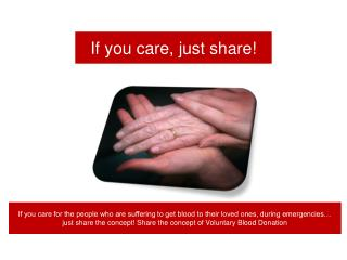 If you care, just share!