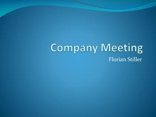 Company  Meeting