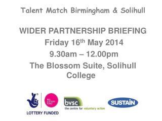 Talent Match Birmingham &  S olihull