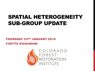 Spatial Heterogeneity Sub-group Update