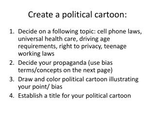 Create a political cartoon: