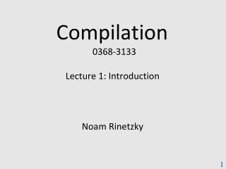 Compilation   0368 -3133