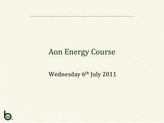 Aon Energy Course