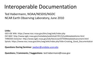 Interoperable Documentation