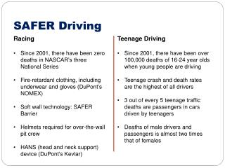 SAFER Driving