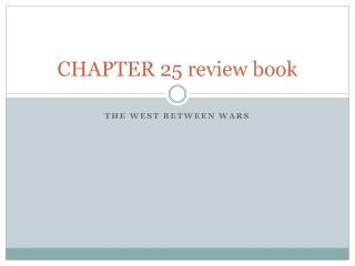CHAPTER 25 review book