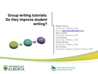 Group writing tutorials:  Do  they improve student writing?