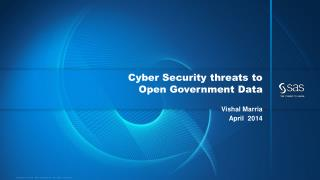 Cyber Security threats to  Open  Government Data