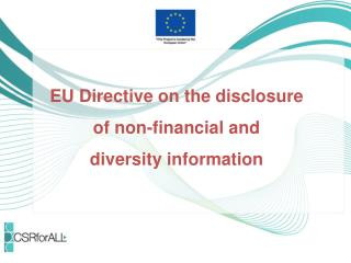 EU  D irective on the disclosure  of non-financial and  diversity information