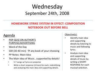 Wednesday September 24th, 2008