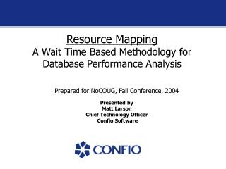 Resource Mapping A Wait Time Based Methodology for Database Performance Analysis
