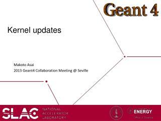 Kernel updates