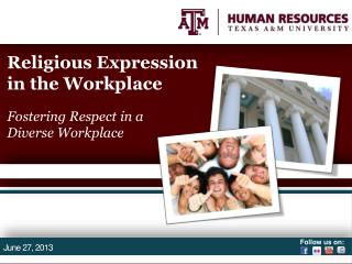 Religious Expression in the Workplace Fostering Respect in a  Diverse Workplace