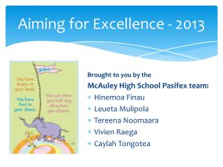 Aiming for Excellence - 2013