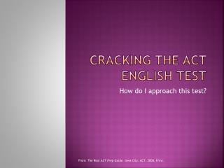 Cracking the act English test