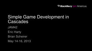 Simple Game Development in Cascades