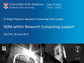Dr Birgit Plietzsch, Research Computing Team Leader RDM within Research Computing  support