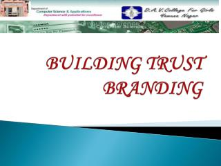 BUILDING TRUST BRANDING