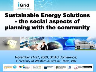Sustainable Energy Solutions - the social aspects of planning with the community