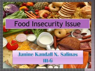 Food  Insecurity  Issue
