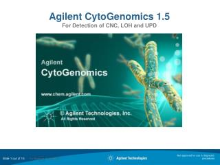 Agilent CytoGenomics 1.5 For Detection of CNC, LOH and UPD