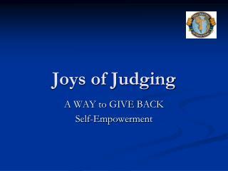 Joys of Judging