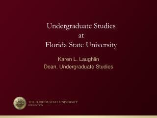 Undergraduate Studies at Florida  State University