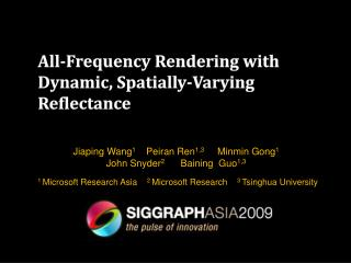 All-Frequency Rendering with  Dynamic, Spatially-Varying Reflectance