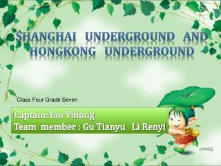 Shanghai   underground   AND    HONGKONG   UNDERGROUND