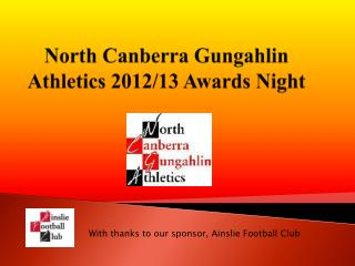 North Canberra Gungahlin   Athletics 2012/13 Awards Night
