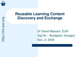 Reusable Learning Content Discovery and Exchange