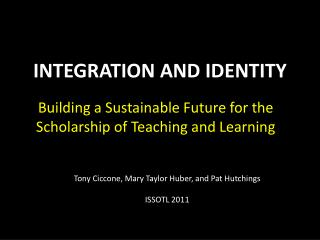 INTEGRATION AND IDENTITY
