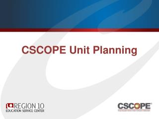 CSCOPE  Unit Planning