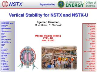 Vertical Stability for NSTX and NSTX-U