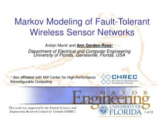 Markov Modeling of Fault-Tolerant Wireless Sensor Networks