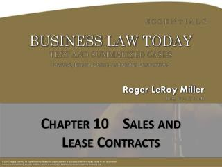 Chapter  10    Sales and Lease Contracts