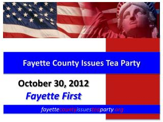 Fayette County Issues Tea Party